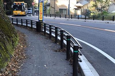 道路改良工事2・歩道の拡幅